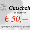 Gutschein € 50,-